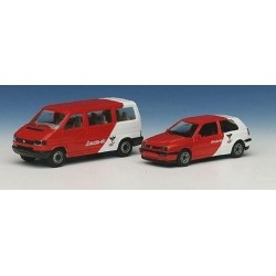 Set Lauda-Air : VW T4 Caravelle - Golf III