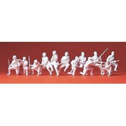 Set de 12 fantassins russes sur tourelle de char (à peindre)