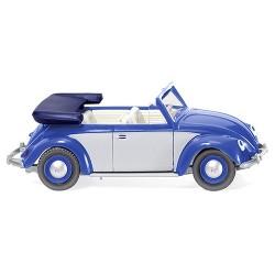 Volkswagen 1200 Cox cabriolet (1961) bleu et gris métallisé