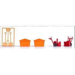 set d'équipements hivernaux (fraises manuelles, bacs et pelles)