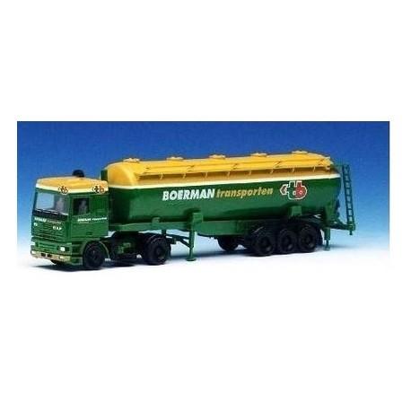 Daf 95 SC + semi-remorque silo Boerman Transporten (NL)
