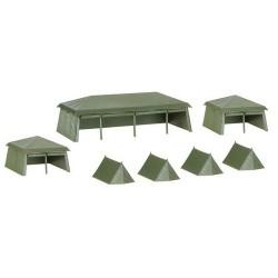 set de 7 tentes militaires