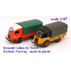 """Set de 2 Renault Galion 2,5t bâchés """"Calberson & Renault Service"""""""