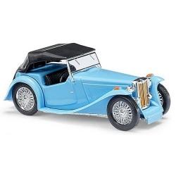 MG Midget TC 1945 cabriolet bâché bleu ciel