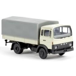 Daf F 900 camion bâché blanc perle
