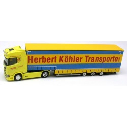 "Scania CS20 + semi-rqe Pte engin bâchée ""Herbert Köhler Transporte"""