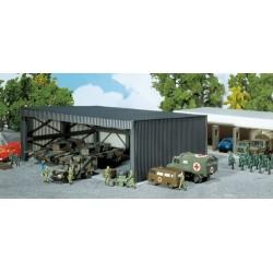 Garage pour véhicule (imitaiojn tôle ondulée) - kit à monter