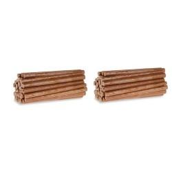 Set de chargement de 40 rondins de bois (longueur 75 mm)