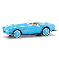 BMW 507 cabriolet bleu ciel de 1956