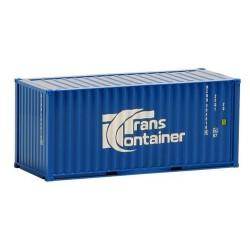 """Container 20' crénelé """"Trans Container"""" (bleu marine)"""