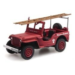"""Jeep Willys Pompiers avec échelle """"Damery"""""""