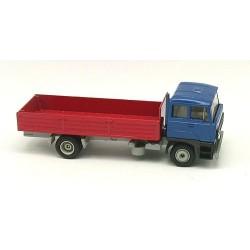 Daf 3300 bleu camion 4x2 à ridelles basses rouges