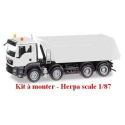 MAN TGS M E6 camion benne blanc 8x4 (kit à monter)