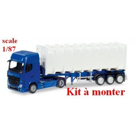 MB Actros Giga '11 + semi-rqe Pte Bulktainer (kit à monter)