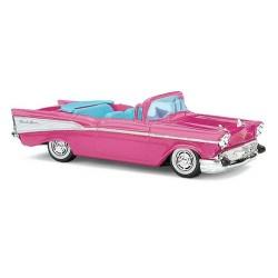 Chevy Bel Air '57 cabriolet débâché (couleur rose)