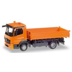 MB Atego '13 camion tri-benne orange