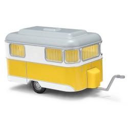 """caravane """"Brillant Nagetusch"""" 1958 jaune et blanche"""