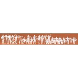 Set de chauffeurs routiers, conducteurs et passagers (30 figurines à peindre)