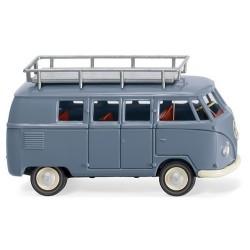 VW T1 (Type II de 1950) minibus avec galerie gris pigeon
