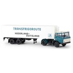 """Daf FT 2600 + semi-remorque fourgon """"Transfrigoroute Nederland-Duitsland"""" (NL)"""