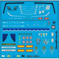Set de Planche de décalcomanies pour MB Actros MP4