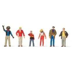 Set défilé du Carnaval : 6 figurines grimées ou costumées