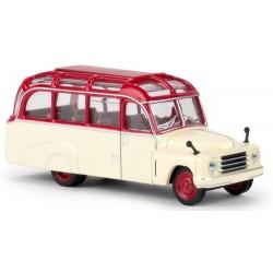 Hanomag L28 Lohner bus à toit fermé crème et rouge