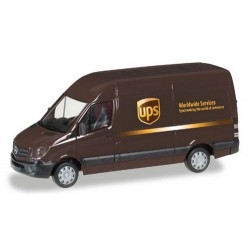 """MB Sprinter '13 fourgon réhaussé """"UPS World Wide Express"""""""