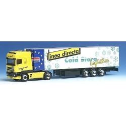 """Daf 95 SSC + semi-remorque frigorifique """"Linea Directa Colc Store Logistics"""" (NL)"""