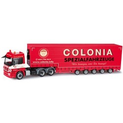 "MB Actros L 08 6x6 + semi-rqe Pte engin bâchée ""Colonia"""
