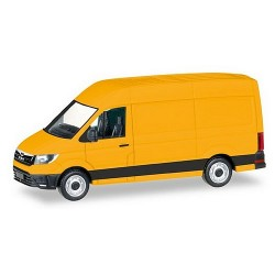 MAN TGE fourgonnette réhaussée jaune orangé