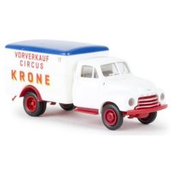 "Opel Blitz fourgon ""Vorverkauf Circus Krone"""