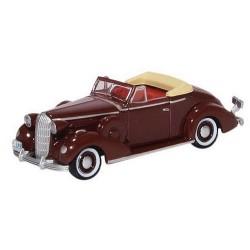 Buick Special Convertible Coupe 1936 marron cardinal