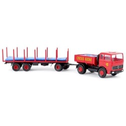 """MB LPS 1620 camion + rqe plateau Pte bâche """"Circus Krone"""""""