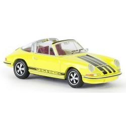 Porsche 911 Targa jaune à parements noirs
