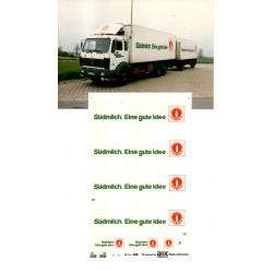 """Planche de décalcomanie pour MB SK camion + remorque frigo """"Südmilch"""""""