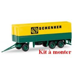 """remorque bâché """"Schenker"""" à 3 essieux (kit à monter)"""