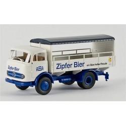MB LP 328 camion plateau brasseur Zipfer Bier