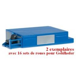 Set de 2 Power-Pack pour modules THP Goldhofer & 16 sets de roues pour Goldhofer