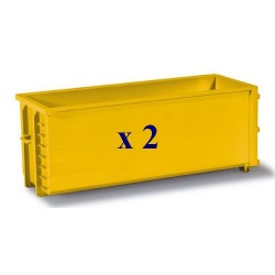 Set de 2 bennes déposables jaunes