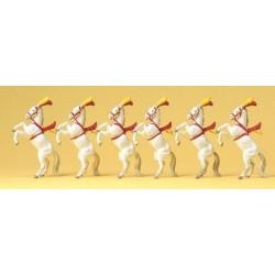 Set de 6 chevaux de cirque