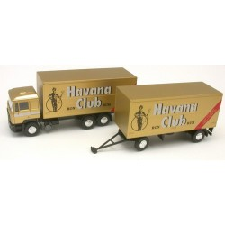 "MAN F90 camion + remorque fourgon ""Havana Club"""