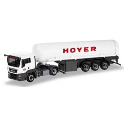 """MAN TGS L E6c + semi-remorque citerne à gaz """"Hoyer LNG"""""""