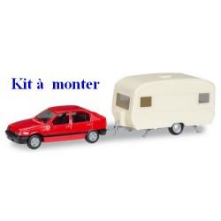 Opel Kadett E GLS + caravane - Kit à monter