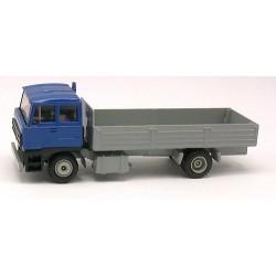 Daf 3300 bleu camion 4x2 à ridelles basses grises