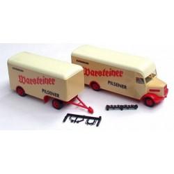 MAN 750 L camion + rqe fourgon Warsteiner