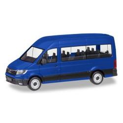 MAN TGE minibus bleu marine