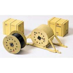 Set de chargement : 2 caisses en bois et 2 rouleaux de câbles (kit en plastique à monter)