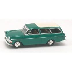 Opel Rekord PII carAvant verte à toit blanc