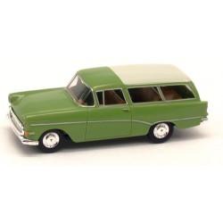 Opel Rekord PI CarAvan 1957 vert clair à toit blanc